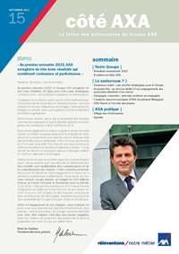 Lettre aux actionnaires AXA SEPTEMBRE 2013