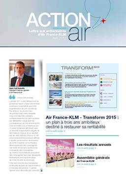 lettre aux actionnaires AIR FRANCE AVRIL 2012
