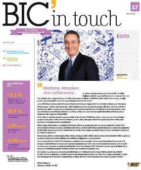 lettre aux actionnaires BIC MARS 2012