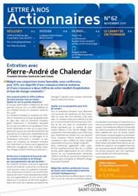 Lettre aux actionnaires de Septembre 2011 Saint-Gobain