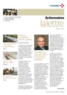 Lettre aux actionnaires de Novembre 2011 VINCI