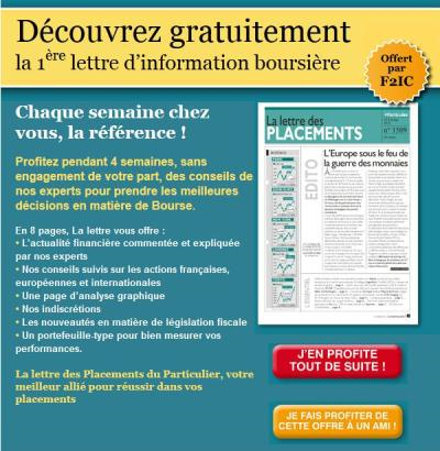 lettre des placements