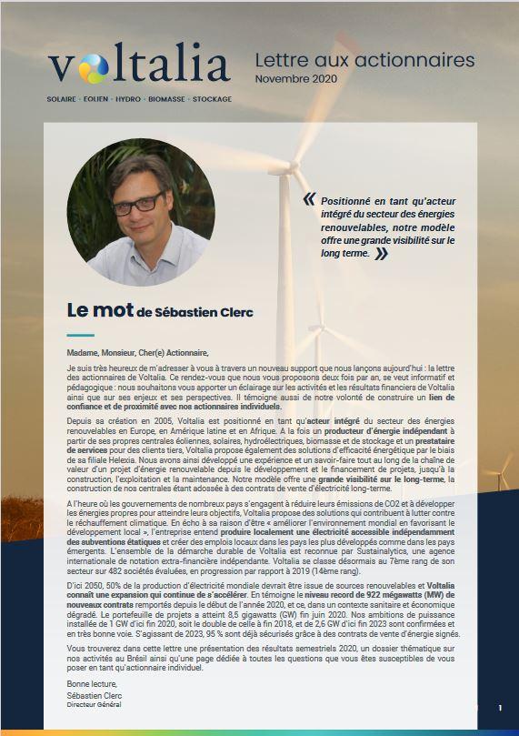 lettre VOLTALIA