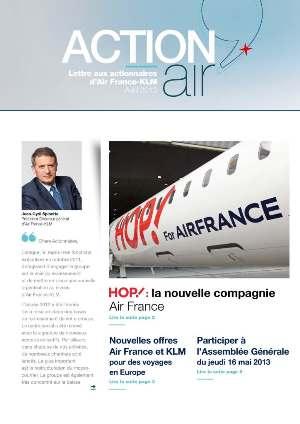 lettre aux actionnaires AIR FRANCE KLM