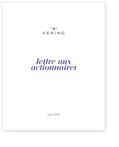 LETTRE AUX ACTIONNAIRES KERING MARS 2014