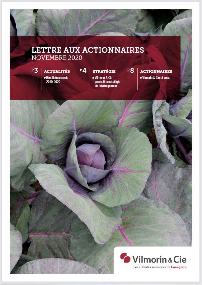 Lettres aux actionnaires Vilmorin & Cie