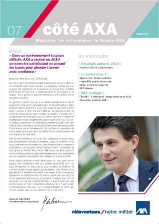 lettre aux actionnaires AXA MARS 2012
