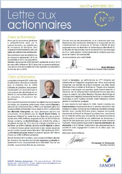 Lettre aux actionnaires de Septembre 2011 SANOFI