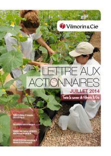 Lettre aux actionnaires Vilmorin & Cie