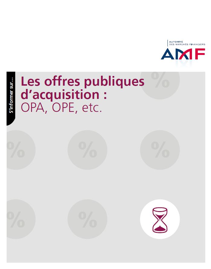 AMF Guide Les offres publiques d'acquisition